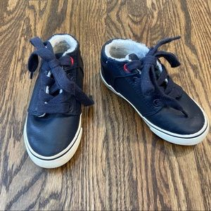 Cat And Jack Navy Sherpa Lined Shoes